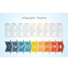 timeline arrows 9 vector image vector image