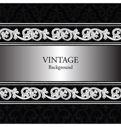 Vintage background with classic royal ornaments vector image