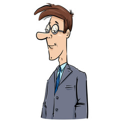 young businessman caricature drawing vector image