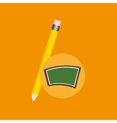 blackboard school icon pencil vector image