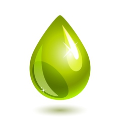 oil drop vector image