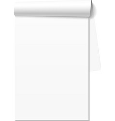 Blank white notepad notebook vector image