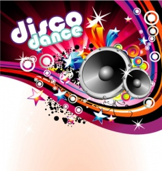 Disco colorful flyer background vector
