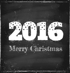 2016 chalk merry christmas vector image vector image