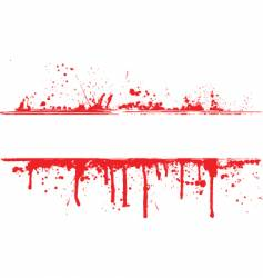 Blood splat border vector
