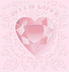 valentine jewel vector image
