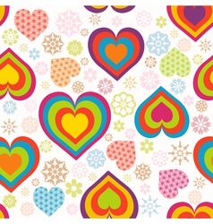 heart pattern valentines vector image