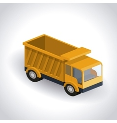 Truck isometric design vector