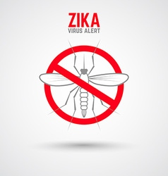 Zika virus alert moskit with phrase vector