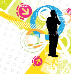 abstract design artwork vector image