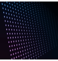 Abstract blue color neon dots dotted technology vector