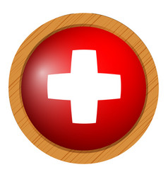 Badge design for flag of switzerland vector