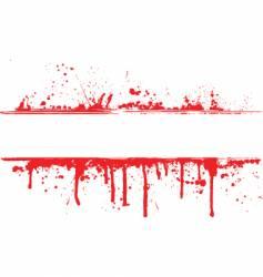 blood splat border vector image vector image
