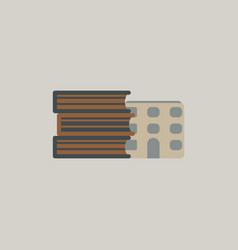 Book and library building vector
