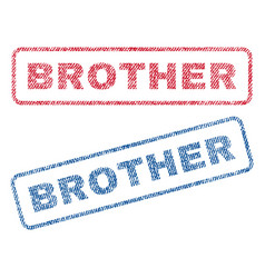 Brother textile stamps vector