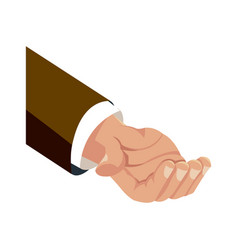 Business arm support work image vector