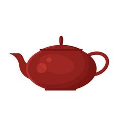 Flat teapot icon logo isolated on white vector
