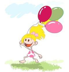 girl with a balloon vector image