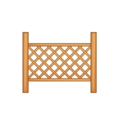 Grid of wooden fence icon cartoon style vector image vector image