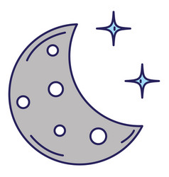 half moon with stars vector image