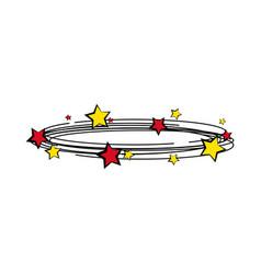isolated group of comic stars retro cartoon vector image