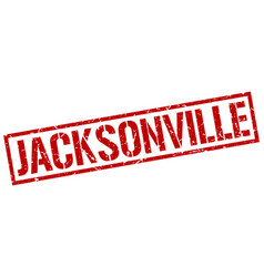 Jacksonville red square stamp vector