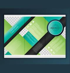 Modern tri-fold brochure design template vector