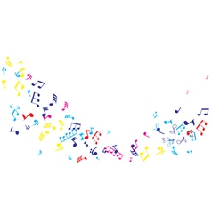 Notes dance color vector