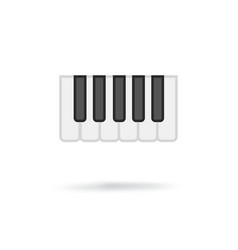 Octave piano keys icon vector