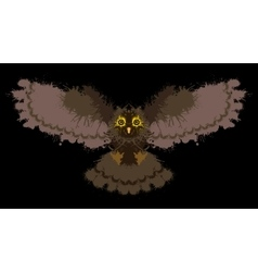 Owl painted blots vector