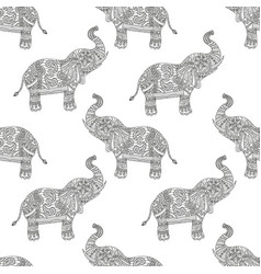 Seamless pattern with hand-drawn tribal styled vector