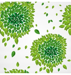 Spring time contemporary green leaves seamless vector image