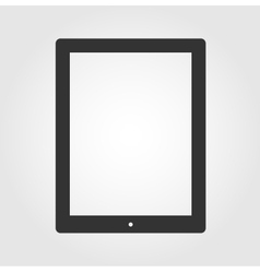 Tablet pc computer icon flat design vector image