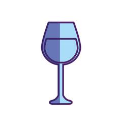 Tasty wine glass icon vector