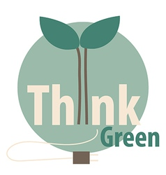 Think green Eco concept vector image vector image