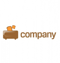 toaster company logo vector image vector image