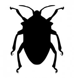 True bug silhouette vector