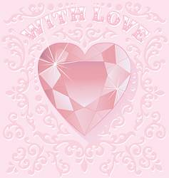 valentine jewel vector image vector image