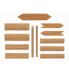 wooden planks isolated on white collection vector image