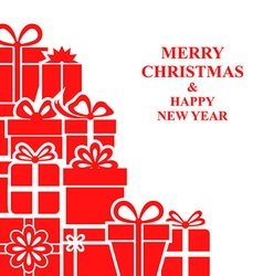 xmas gift card vector image vector image