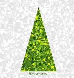 Stylized christmas card with christmas tree vector