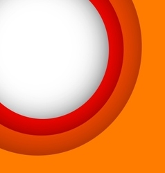 Abstract orange background with copy space vector