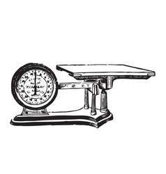 engraved of a weighing scale vector image