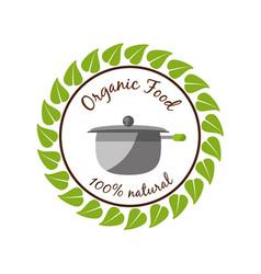 Organic food fresh healthy diet vector