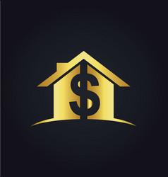 House money sold gold logo vector