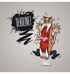Angry boss screaming deadline vector