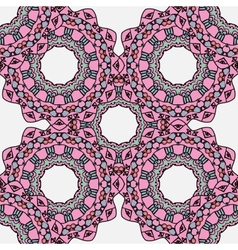 Abstract festive colorful pink ethnic vector image