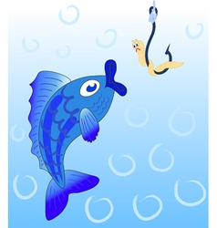 of fish vector image