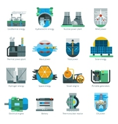 Energy production icons vector