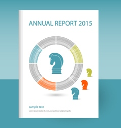 Annual report horse strategy icon vector